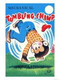 Mechanical Tumbling Chimp Posters