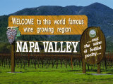 Welcome Sign, Napa Valley, California Photographic Print by John Alves