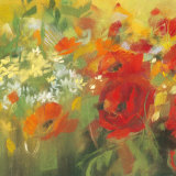 Oriental Poppy Field II Print by Carol Rowan