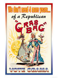 Vote Obama, End the Republican Grab Bag Premium Giclee Print