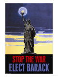 Stop the War, Elect Obama Premium Giclee Print