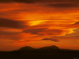 Brilliant Sunset over Spanish Peaks of Colorado Photographic Print