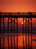 Newport Beach Pier, Orange County, California Photographic Print by Nik Wheeler