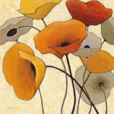 Pumpkin Poppies III Print van Shirley Novak