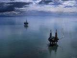 Oil Platforms, Alaska Photographic Print