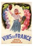 Vinos de Francia Láminas por Antoine Galland
