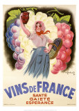 Vins de France Prints by Antoine Galland