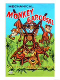 Mechanical Monkey Carousal Prints