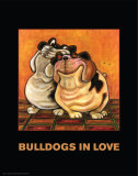 Bulldogs in Love Prints by  Kourosh