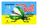 Mechanical Walking Beetle Posters