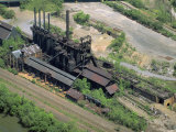 Abandoned Blast Furnace, Youngstown, Pennsylvania Photographic Print