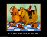 Hounddog Family Picnic Prints by  Kourosh