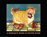 A Woman's Work is Never Done Poster by  Kourosh