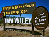 Sign at Entrance of Napa Valley, California Photographic Print by Dennis Flaherty