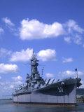USS Alabama, Battleship Memorial Park, Mobile, Alabama Fotografie-Druck von Bill Bachmann