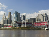 City Skyline along the Ohio River, Cincinnati, Ohio Photographic Print by Walter Bibikow
