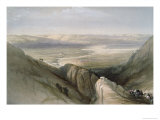 Descent to the Valley of Jordan Premium Giclee Print by David Roberts