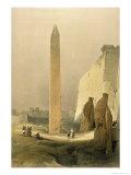 Obelisk at Luxor Giclée-Druck von David Roberts