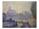 Bridge at Auxerre Giclee Print by Paul Signac