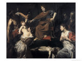 Judgement of Solomon Gicl&#233;e-Druck von Valentin de Boulogne 