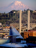 Downtown and Mt. Rainier, Tacoma, Washington Photographic Print by Charles Crust
