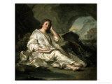 La Madeleine Ou Une Penitente Dans Le Desert, c.1742-1744 Giclee Print by Jean-Marc Nattier