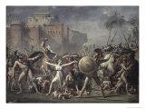 Les Sabines Arretant Le Combat Giclee Print by Jacques-Louis David