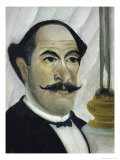Portrait of the Artist Premium Giclee Print by Henri Rousseau