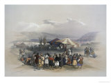 Encampment of Pilgrims at Jericho Premium Giclee Print by David Roberts