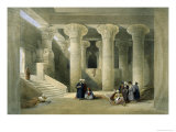 Interior of the Temple of Esne in Upper Egypt Giclee Print by David Roberts