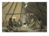 Cree Indian Tent, Journey to the Shores of the Polar Sea Giclee Print by James Franklin