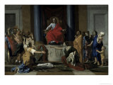 Judgement of Solomon Lmina gicle por Nicolas Poussin
