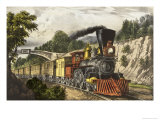 The Express Train Giclee Print by Currier &amp; Ives 