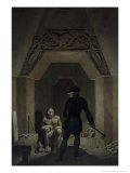 Encounter in the Underground Room Giclee Print by Johann Friedrich Maximilian Von Waldeck