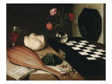 Still Life with a Chess Giclee Print by Lubin Baugin