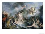 Perseus Rescues Andromeda Giclee Print by Charles Antoine Coypel