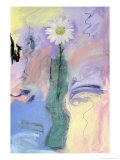Daisy in Sqiggly Giclee Print by Peggy Brown