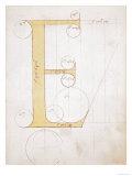 Letter E, Alphabet Giclee Print