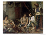 Femme D&#39;Alger Dans Leur Appartement Gicl&#233;e-Druck von Eugene Delacroix