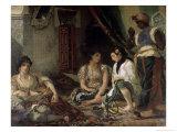 Femme D'Alger Dans Leur Appartement Giclee Print by Eugene Delacroix