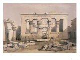 Portico of the Temple of Kalabshe, Nubia Giclee Print by David Roberts