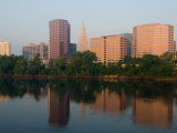 Skyline Reflection in the Connecticut River, Hartford, Connecticut Photographic Print by Jerry & Marcy Monkman