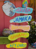 Colorful Directions Sign, Pine Island, Florida, USA Photographic Print by Walter Bibikow