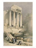 Remains of the Western Portico, Baalbec Giclée-Druck von David Roberts
