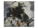 Mermaids at Play Giclee Print by Arnold Bocklin
