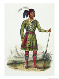 Seminole Leader, History of the Indian Tribes of N. America Osceola Giclee Print by Thomas Loraine Mckenney