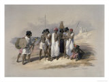 Group of Nubians at Wady Kardassy Lámina giclée por David Roberts