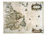 Extrema Americae, Grand Atlas Giclee Print by Joan Blaeu