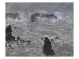 Tempete, Cotes de Belle, Ilestorm Giclee Print by Claude Monet