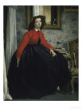 Young Woman in a Short Red Jacket Giclee Print by James Tissot